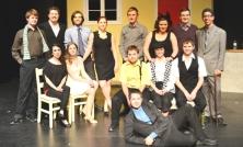 "McMaster Thgespian Company's ""TAMING"" cast"