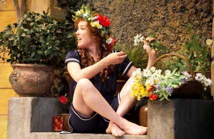 Moya O'Connell enjoying an ENCHANTED APRIL