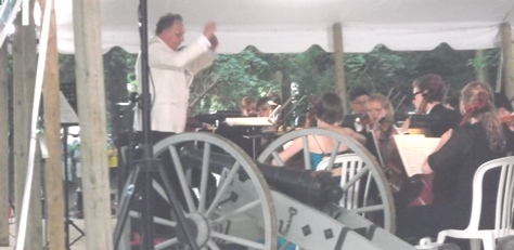 "Brott; his 'sidearm' & some NAO musicians doing the ""1812""."