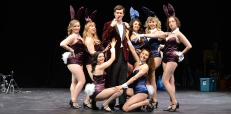 "the ""HEF"" and his bunny coterie"