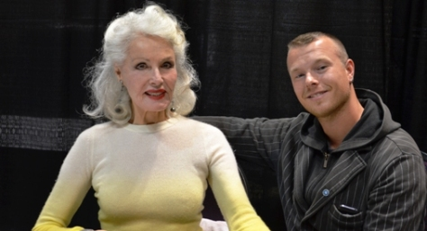 """Catwoman"" Julie Newmar & fan"