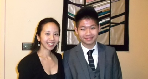 Angela Park & student