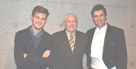 Blake Pouliot, Yrs.truly & Stilian Kirov; post concert