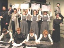 "the ""Massey Murder"" cast's representation of an old Miele letterpress printing operation"
