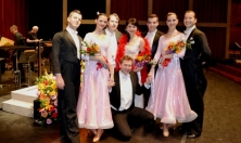 "Conductor Schulz and some dancer s& singers of ""SALUTE to VIENNA"""