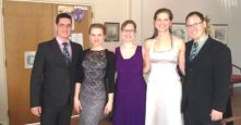the Bach Elgar soloists, post RBG concert