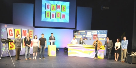 "the cast/crew and winning contestants of ""GAME SHOW"""