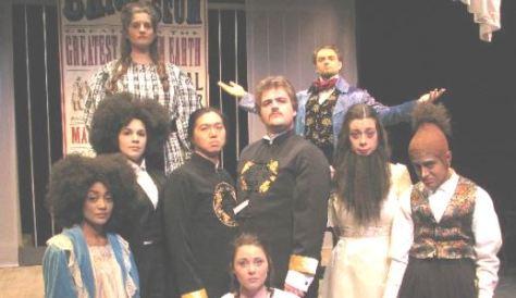 "The cast of ""LIVING CURIOSITIES"""