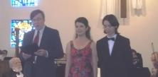 OCO president Angelo Gervasio with winners Laengert & Pejanovic