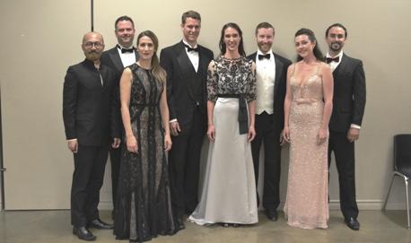 The soloists l-r: Lam;Menzies;Brunet;ludwig;Sailor;Durand;Burrage & Dunham