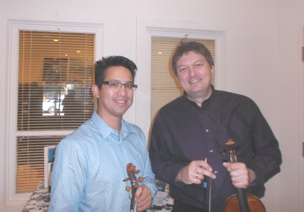 Ouellette & Sitarski; post-concert