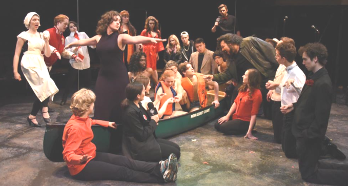 "the whole UTM theatre 3rd year undergrads mispocha trying to ""Make love in a Canoe!"""