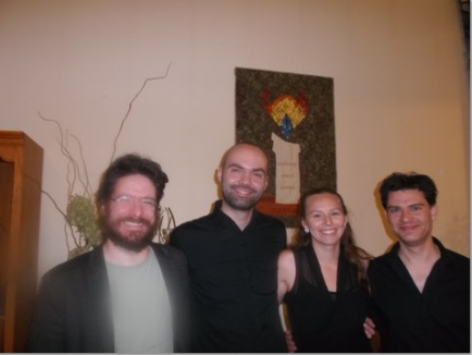 The members of the tango ensemble