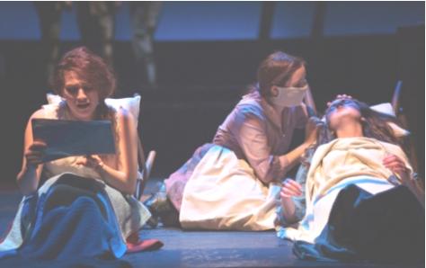 Abbi Longmire; Mollie Garrett & Jackie Mahoney suffering the 'flu in UNITY