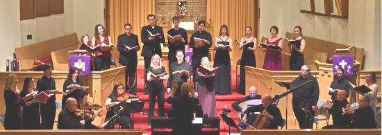 The ARCADY singers performing Handel's MESSIAH