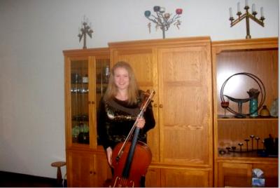guest soloist Livia Coburn, post-concert