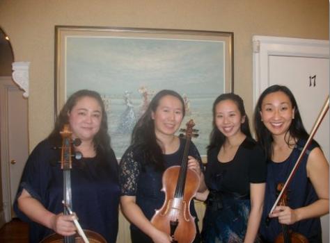 Quartet members Mercer; Wei; Park & Lee