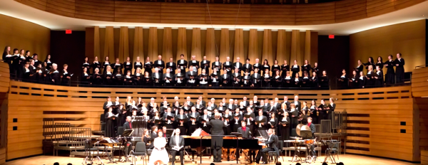 "Choir & orchestra performing ""CREATION"""