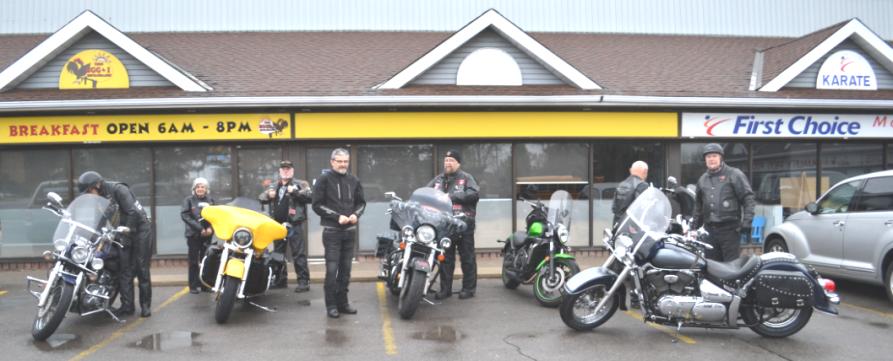 Some of the CMC-007 riders (Hamilton) preparing for a pre-dawn drive to Pt. Dover