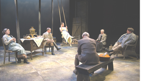 Cast of UNCLE VANYA, on stage