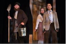"""Andrew Shaver; Raquel Duffy & Kawa Ada in a scene from """"The 39 Steps"""""""