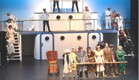 the cast departing the U.S. on their musical ocean voyage