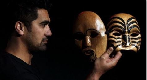 """two of the """"SOL OTHELLO masks"""