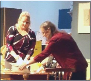 "Nectaria Kardan & Gladys Glass in ""RABBIT HOLE"""
