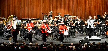 The drummers of RHLI Band, onstage with the HPO