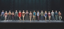 the candidates for work as part of A CHORUS LINE