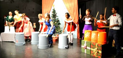 "The ""LEGWARMERS"" percussion team!"