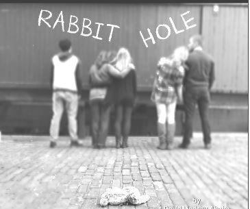 Sandcastle Theatre's clever poster for RABBIT HOLE