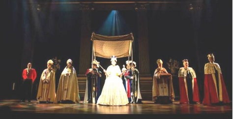 H.R.H. QE II with some of her on-stage courtiers