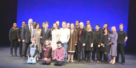 "The cast (& swing/crew) of ""BLOOD BROTHERS"""