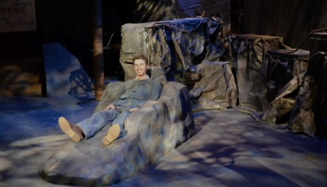 "Ben Chiasson as ""FLOYD COLLINS"", alone in his underground grotto"
