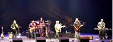 LOS LOBOS, on-stage at the Burlington Centre