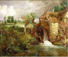 the famous John Constable painting of The Mill