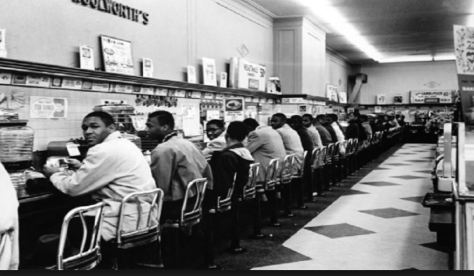 The Greensboro N.C. sit-ins;  circa 1960